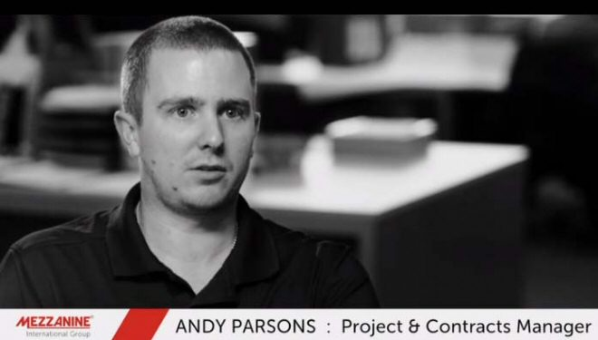 Andy Parsons, Projects & Contracts Manager, Mezzanine International Group